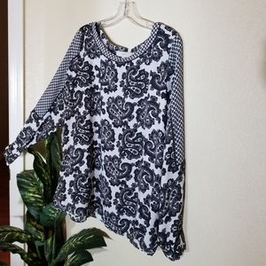 NWOT Loft, long sleave blouse size Large